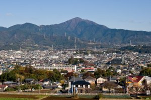 Mt. Oyama from a distance