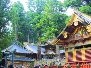 A view of the shrine grounds