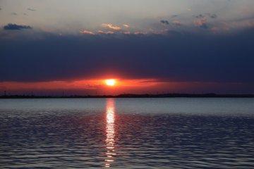 霞浦湖的夕陽