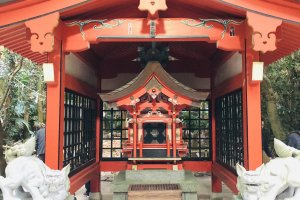 Inside Aoshima Shrine