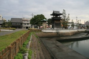 The old site where the ferries between Kuwana and Atsuta plied their trade.