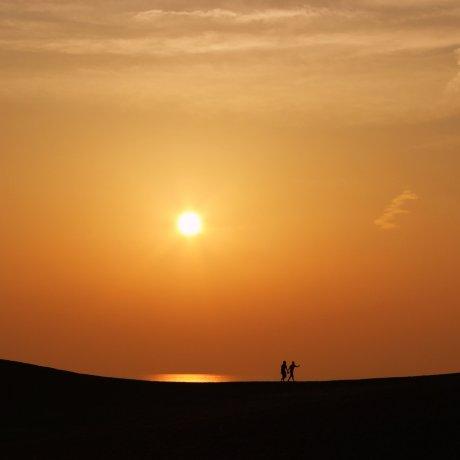 Sunset at Tottori Sand Dunes