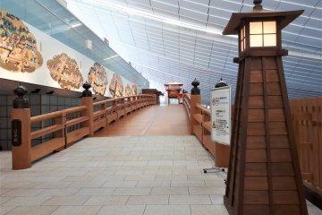 The airport's replica Nihonbashi Bridge