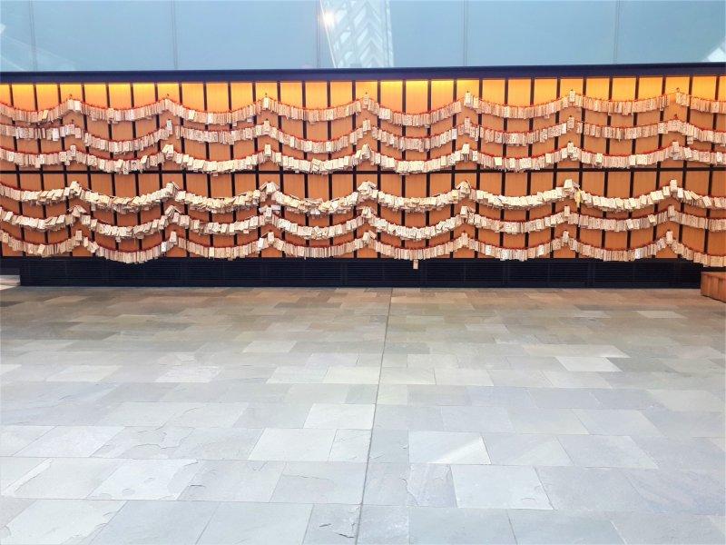 Display of ema votive plaques