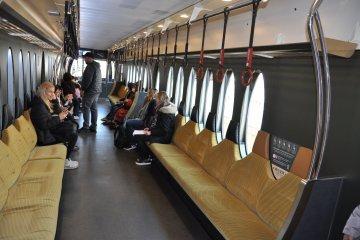 Hiei train: inside
