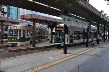 Modern Hiroshima streetcar