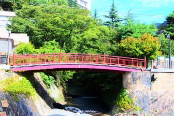 The vermilion-coloured Nene Bridge