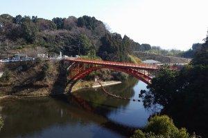 Bridge leading to Shigisan temple complex