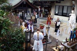 Yamabushi performing a ritual