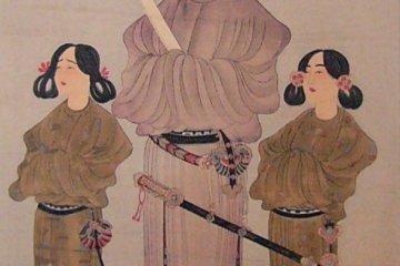 Prince Shotoku Taishi (centre) with his younger brother, Prince Eguri (left) and his son Prince Yamashiro