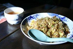 Fried rice and soup at Bamiyan