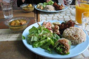Vegan fare at Choukrane