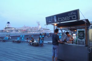 Snack Stand  on the roof of Osanbashi pier