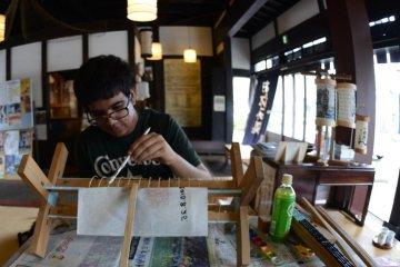 Lantern making in Odawara