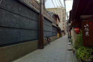 back lanes of Gion