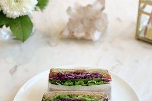 Colorful veggies make for a wonderful sandwich!