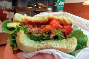 Das Innere des grünen Burgers