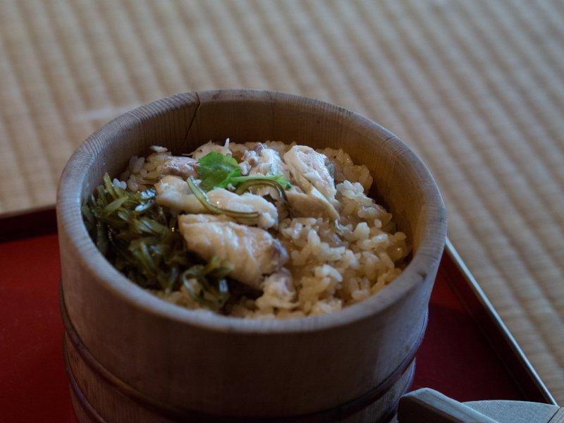 Taimeshi, sea bream and rice
