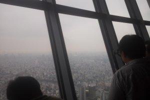 도쿄시내를 내려다 볼 수 있다