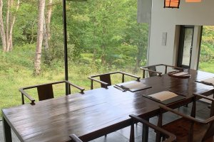 One of the larger private dining spaces
