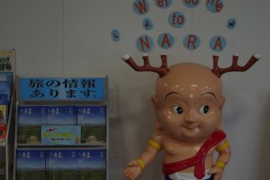 Travel brochures and the mascot of Nara City