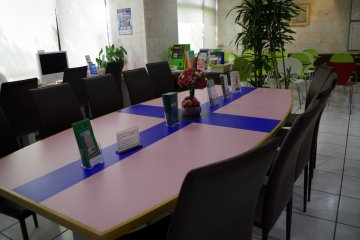 Conference area next to the reception of Kyoto Plaza Hotel just moments from JR Kyoto Station