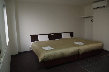 Double room at lower floor is also spacious