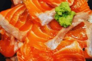 Salmon bowl.