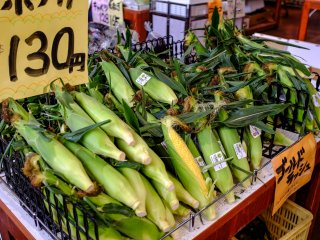 Qualty corn is one of Kutchan's specialities and there's no shortage of fresh produce at Sungreen