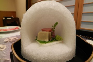 An igloo of sashimi.