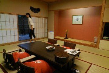 The spacious Japanese-style rooms.