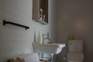 Toilet area of twin room