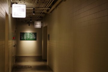 Artwork at the end of corridor