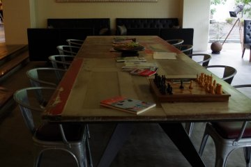 <p>Table full of ideas for you to spend your night&nbsp;at Hotel Anteroom Kyoto</p>