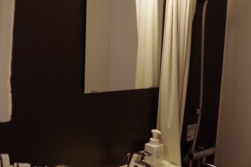 <p>Bathroom of Hotel ibis Styles Kyoto Station outside Hachijo Exit of JR Kyoto Station</p>