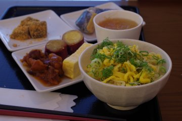 <p>Kyoto style breakfast at Hotel Ibis Styles Kyoto Station</p>