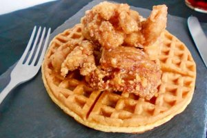 Chicken and waffles are quickly becoming a menu favorite