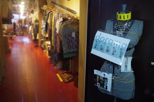 Store entrance to Dorama Vintage Boutique in Kyoto