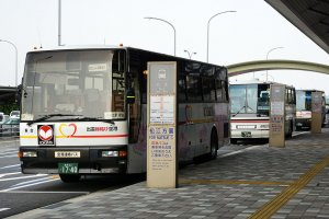Bus connections to nearby Izumo and Matsue are available