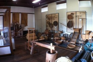 Artifacts at the Uwa Rice Museum