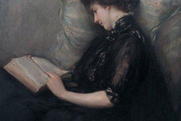 Lady Reading Poetry by Ishibashi Kazunori