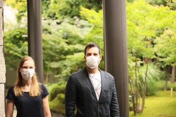 Me and my colleague providing feedback about the new RETISSA technology  ©Tatsuya Shiraishi