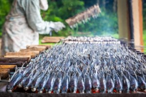 Grill your own flying fish