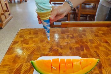 Mashu Blue Soft Cream and Sweet Melon