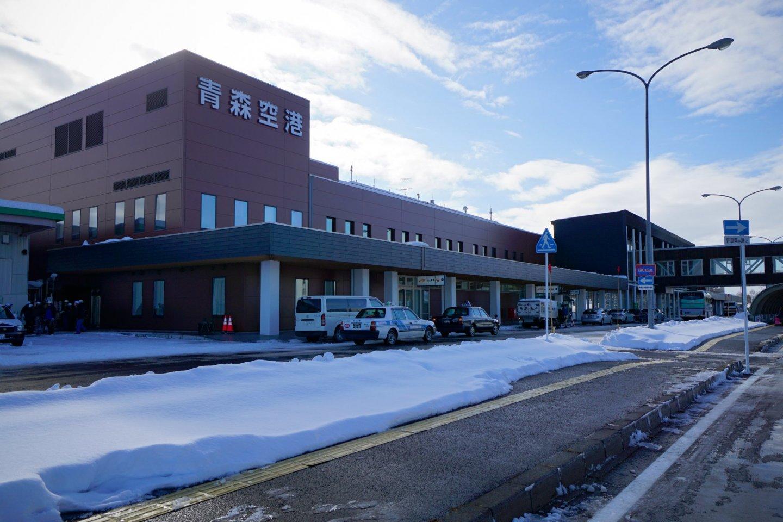 Snowy Aomori Airport
