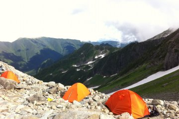 Campsite near the summit