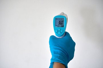 An infrared thermometer