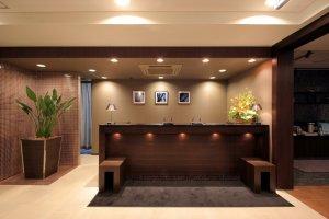 Warm lobby of Hotel Vista Kumamoto Airport