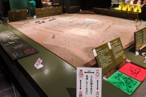 Exhibits at the Kamitsukeno-sato Museum of Archeology