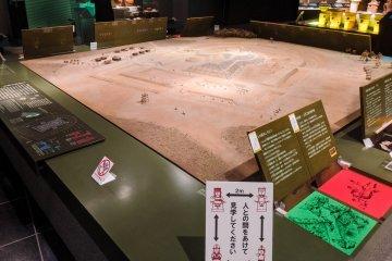 Exhibits at the Kamitsukeno-sato Museum of Archeology